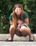 Lovley Redhead Outdoors And Pissing In Public