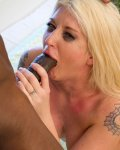 big booty blonde Leya Falcon drilled by black cock