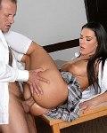 Athina amateur schoolgirl having oral cumshot sex