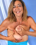 Mature Prima shows her saggy baggy tits and pussy