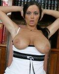 Naughty Busty Gosha undress in public library