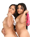 Latina teens Angel and Lupita compare their tits