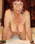 Old amazing and crazy busty granny is showing tits