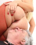 busty blonde femdom anilingus facesitting pleasure