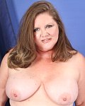 BBW Charisma shows her tits and dildos her pussy