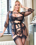 Big tit blonde milf in her hot lace sheer lingerie