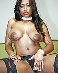 Big titted black babe likes to have sex adventures