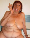 Old wrinkled chubby Latina mature with big tits