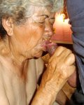 Horny extremely old latin grandma is sucking cocks