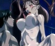 Cute naked hentai getting hot sex pumping at night