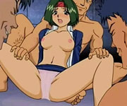 Sexy anime cutie hot gangbanged orgy with some men