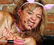Pig humiliation and messy slave bizarre domination