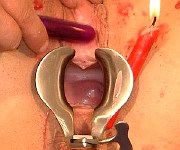 Bizarre pussy torture and extreme speculum slavery