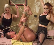 Cherry Torn and Bella Rossi femdoms bdsm fuck male