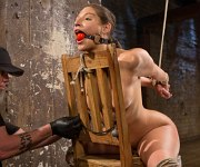 Abella Danger is rope bound and toyed in her pussy