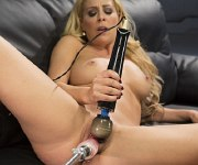 Cherie Deville sexy blonde milf is machine fucking