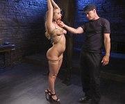 Harley Jade bdsm bound for sex training by maledom
