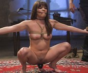 Alison Rey sub bound for bdsm sex training by male
