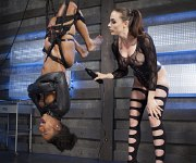 Chanell Heart is bound and electro toyed by lezdom