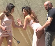 Penelope Cum public bound for flogging and fucking