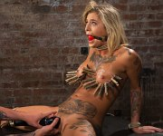 Kleio Valentien bondage babe bdsm toyed to orgasms
