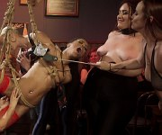 Kira Noir and Violet bound and dominated by lezdom