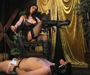 Cherry Torn femdom humiliates and strapons malesub