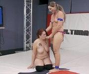 Savannah Fox lezdom with big strapon wrestling sex